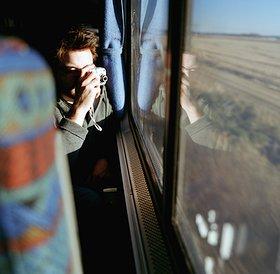 Una turista en el tren
